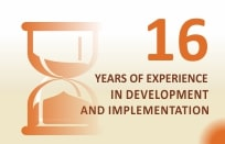 15 years of experience in development and implementation